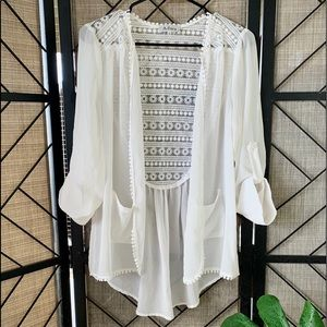 Adara White Cover Up Large, Beautiful!